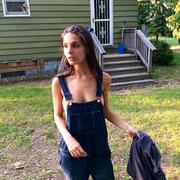 Caitlin Stasey MQ Topless in dungarees personal pic