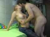 Girlfriend fucked in his dads garage