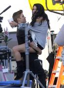 Selena Gomez Straddling Justin Bieber on the Set of Boyfriend April 21, 2012, 11 LQ