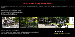 House of Gord: Fetish Model Ashley Renee Rides! (3 Clip)