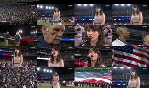 Zooey Deschanel - World Series Game 3 National Anthem [10-27-12] (720p)