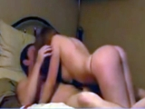 Cute redhead riding her boyfriend