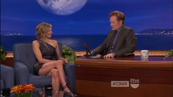 Eliza Coupe @ Conan  3/29/12 * Awesome Leg and Thigh show