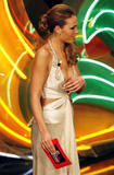 Ilary Blasi (Italian?) nip-slip San Remo song contest 2/27