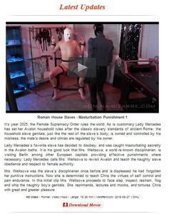 Domina-Bizarre: Roman House Slaves - Masturbation Punishment 1